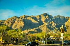 Tucson, montañas de AZ Fotos de archivo