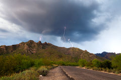 Tucson Mountain Lightning Royalty Free Stock Images