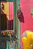 Tucson Old Barrio Historic Adobe House Stock Image