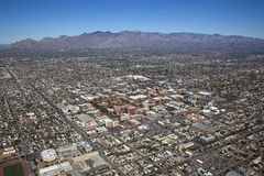 Tucson and scenic Catalina Mountains Royalty Free Stock Images