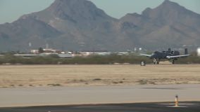 TUCSON USA, JANUARY 2016, US Air Force A-10 Thunderbolt Aircraft Start Airbase stock video footage