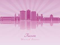 Tucson V2 skyline in purple radiant orchid Stock Image