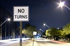Tucson, via della città di AZ alla notte Fotografia Stock