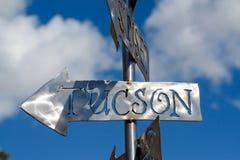 Tucson-Zeichen stockbilder