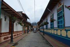 Tuctuc - taxi op historische guatapestad royalty-vrije stock afbeelding