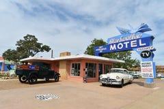 Tucumcari, New Mexico, de V.S., 25 April, 2017: Oud Motel op Route 66 royalty-vrije stock foto's