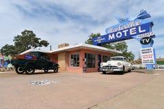 Tucumcari, New Mexico, de V.S., 25 April, 2017: Oud Motel op Route 66 royalty-vrije stock afbeeldingen