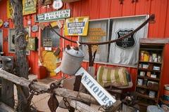 Tucumcari, New Mexico, de V.S., 25 April, 2017: Spookstad van gedetailleerde Tucumcari royalty-vrije stock foto