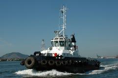 Tudboat-Versand in Santos-Hafen Lizenzfreies Stockfoto