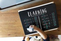 Étude du concept de enseignement de calcul de mathématiques d'éducation Photos stock