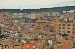 Cityscape of Tudela, Spain Stock Photo