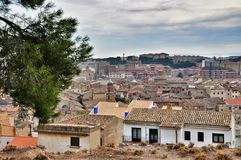Cityscape of ancient town Tudela, Spain Royalty Free Stock Photography