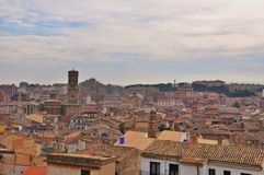 Cityscape of ancient town Tudela, Spain Stock Image