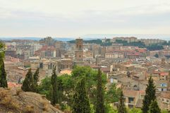 Panorama of Tudela, Spain Royalty Free Stock Photography