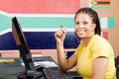 Étudiant adulte heureux Photos libres de droits