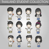 Étudiant Collection de la Thaïlande Image stock