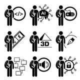 Étudiant Degree en technologie de l'information Photos stock