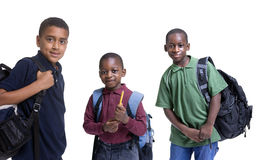 Étudiants d'Afro-américain Images libres de droits