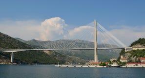 Tudjman-Brücke Dubrovnik Stockbild