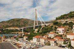 Tudjman Bridge Gruz Harbour Dubrovnik. Royalty Free Stock Photo