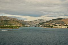 Tudjman Bridge Gruz Harbour Dubrovnik. Stock Images