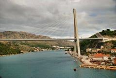 Tudjman mosta Gruzu schronienie Dubrovnik fotografia stock