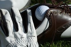 Tudo para o golfe Foto de Stock Royalty Free