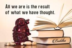 Tudo que nós somos é o resultado do que nós pensamos buddha fotos de stock