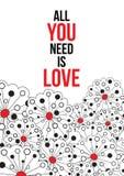 Tudo que você precisa é amor Imagem de Stock