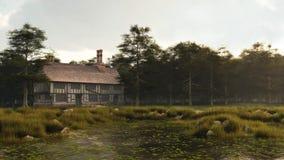 Tudor или елизаветинский дом поместья Стоковые Изображения RF