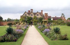 Tudor architecture and garden Stock Photo