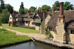 Tudor architecture at Hever Castle Garden in England Stock Photos
