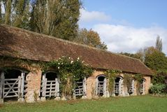 Tudor architecture of old Bustalls or calf pens. Royalty Free Stock Image