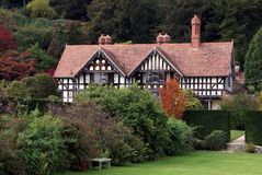 Tudor architecture at Powis Castle garden in Welshpool, England Stock Photography