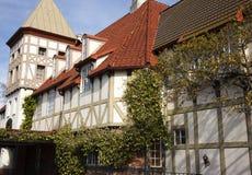 Tudor Architektur Solvang Kalifornien Lizenzfreies Stockfoto
