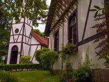 Tudor arkitektur Arkivbild