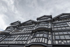 Tudor Black and White Building Royalty Free Stock Image