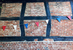 Tudor Brick & Bunting Stock Photo