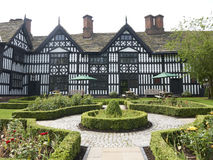 Tudor building. Traditional half timbered tudor building with garden in Sandbach Cheshire UK Royalty Free Stock Photo