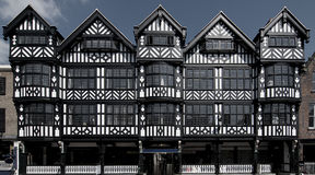 Tudor Buildings. Black and white Tudor style buildings in Chester UK Stock Photography