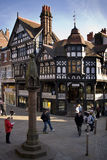 Tudor buildings - Chester - England. Historic Tudor buildings in The Rows in Chester in the county of Cheshire in the North West of England Stock Photography