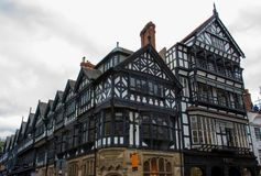 Tudor Buildings a Chester, Inghilterra fotografia stock libera da diritti