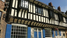 Tudor Buildings - City of York - England stock footage