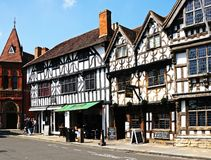 Tudor buildings, Stratford-upon-Avon. Royalty Free Stock Images