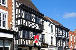 Tudor buildings, Tewkesbury. Stock Photos
