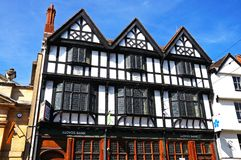 Tudor buildings, Tewkesbury. Royalty Free Stock Images