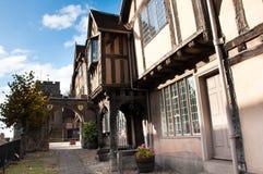 Tudor buildings. Traditional timber framed Tudor buildings in a historic English setting Stock Photos