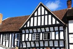 Tudor byggnad, Evesham royaltyfria bilder