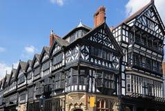 Tudor byggnader, Chester royaltyfri foto