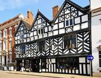 Tudor Cafe, Lichfield, Engeland stock foto
